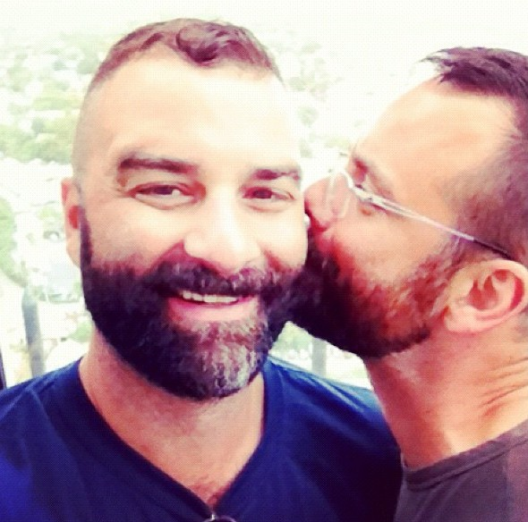 Jonno and me, 15+ years into our relationship, on our second 'official' anniversary, at the top of Provincetown's Pilgrim Monument