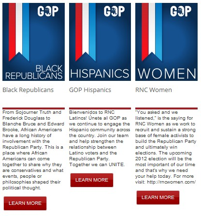 GOP 'Coalition Support' page