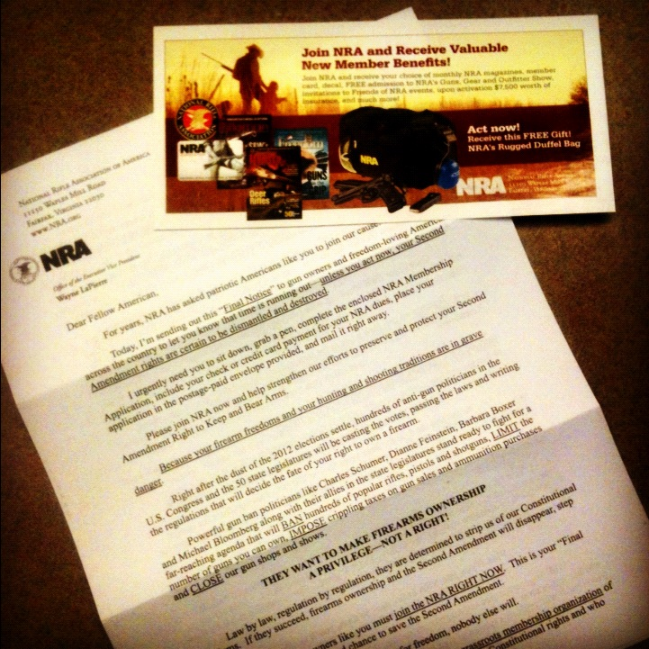 NRA membership solicitation