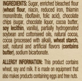 label with allergens
