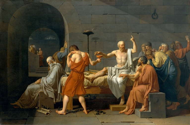 "Jacques Louis David, ""The Death of Socrates"""