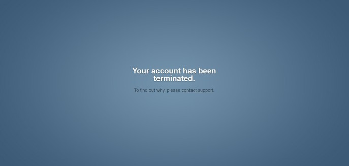 Tumblr: Your Account Has Been Terminated