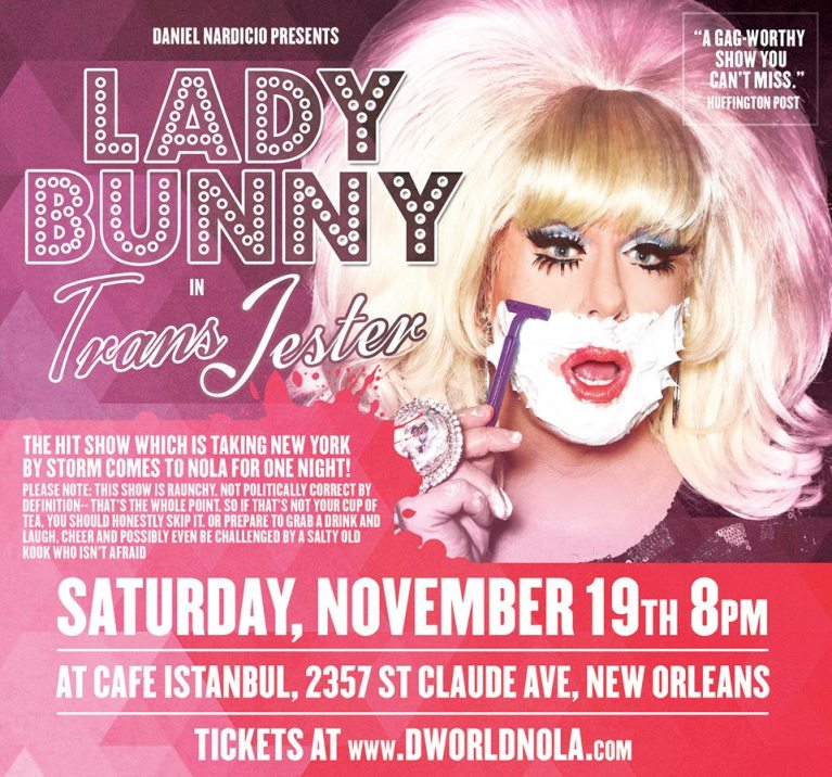 "Lady Bunny in ""Trans Jester"""